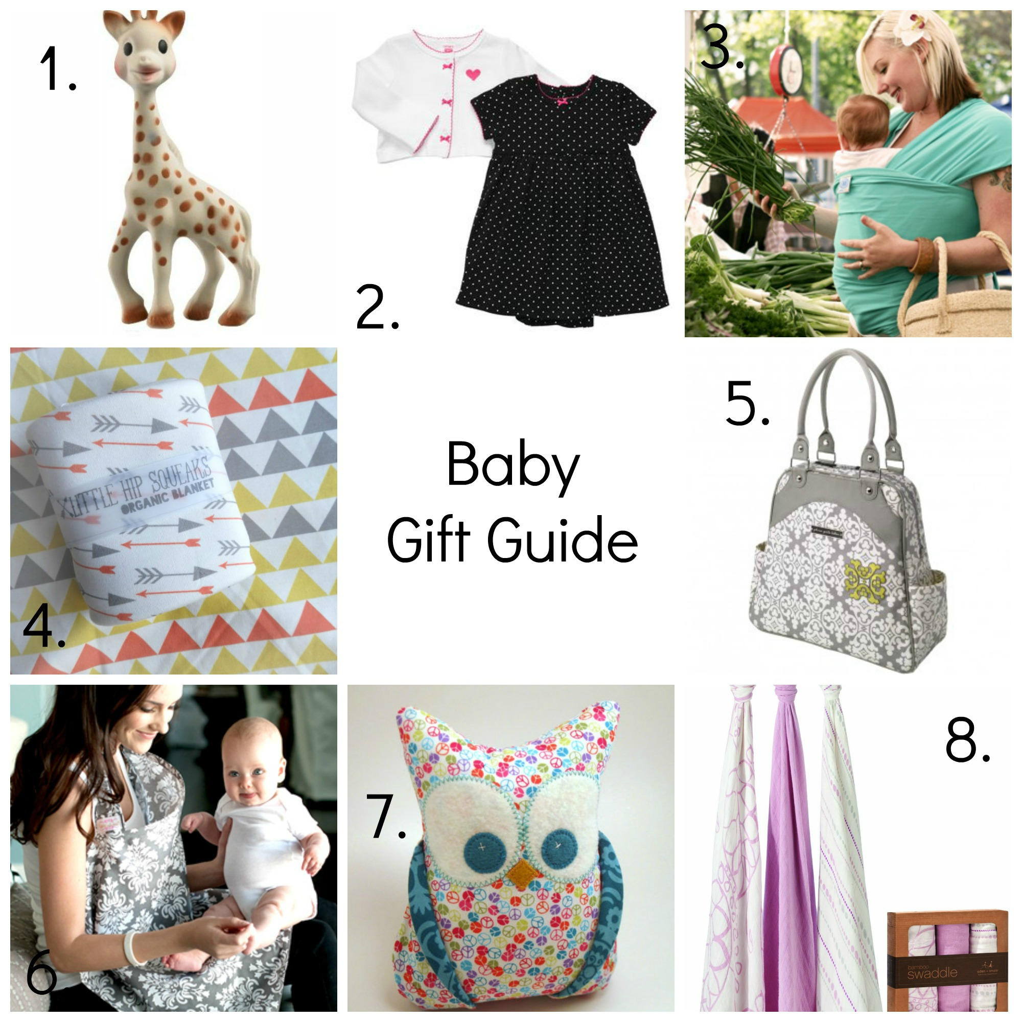 Baby Gift Guide : Baby shower gift guide