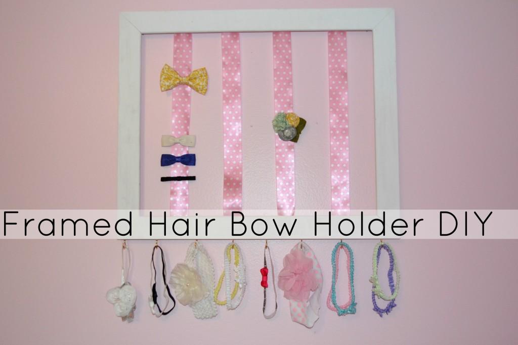 Framed Hair Bow Holder Diy