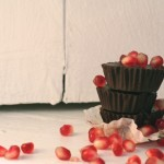 Dark Chocolate Pomegranate Cups