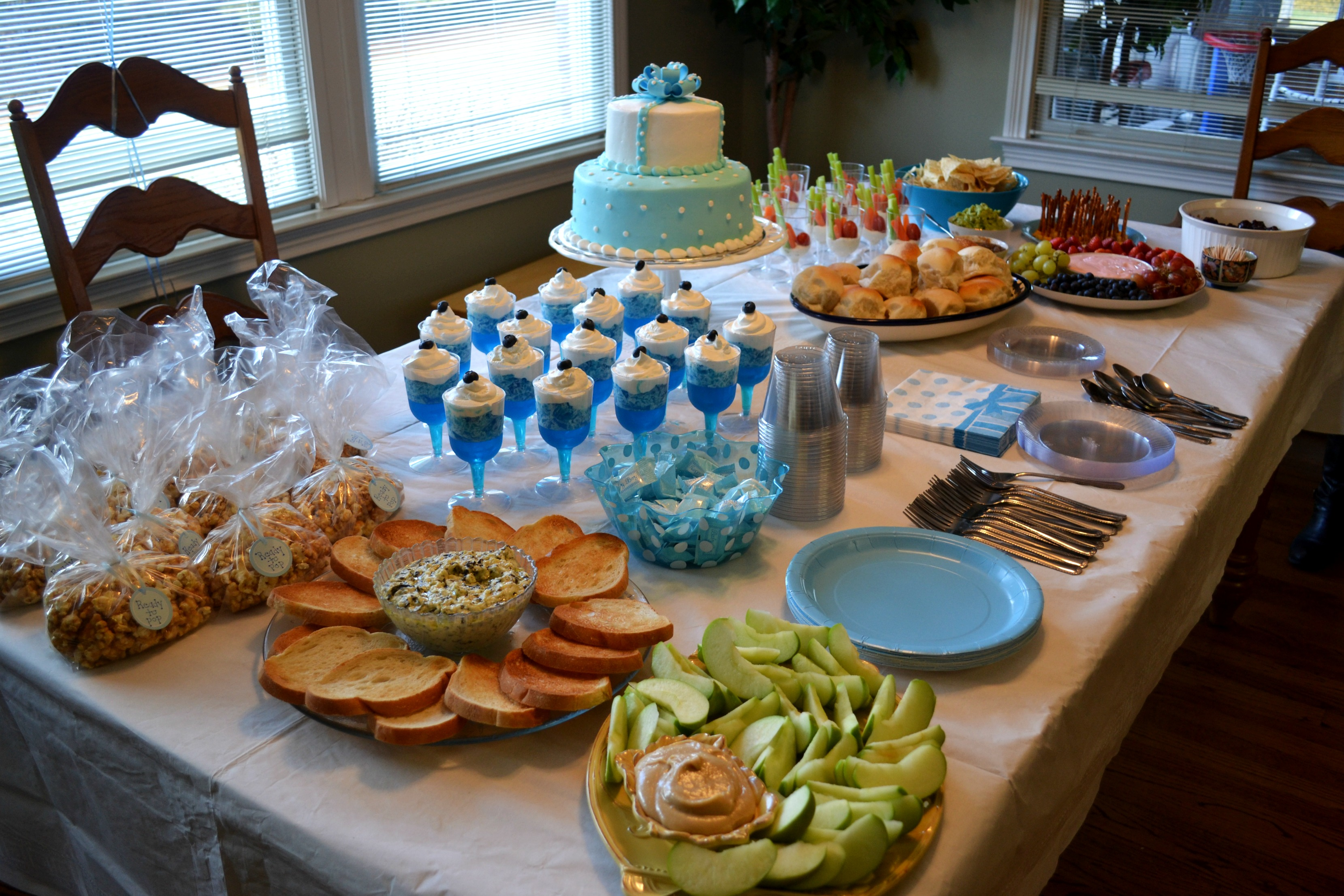 A baby boy shower for Baby shower food decoration ideas