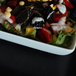 Berry and Avocado Salad with Grilled Onions